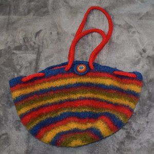 Hand Knit Felted Synch Top Purse